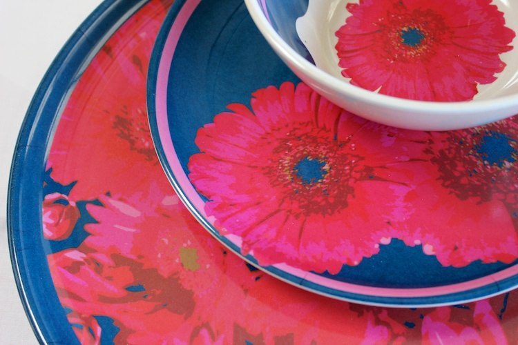 Gerbera Daisy Moulded Bamboo Dinnerware • ©2014 Jennifer Libby Fay