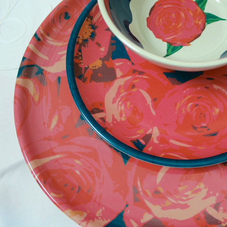 Romantic Rose Moulded Bamboo Dinnerware • ©2014 Jennifer Libby Fay